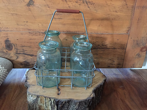 Metal Carrier w/ Jars