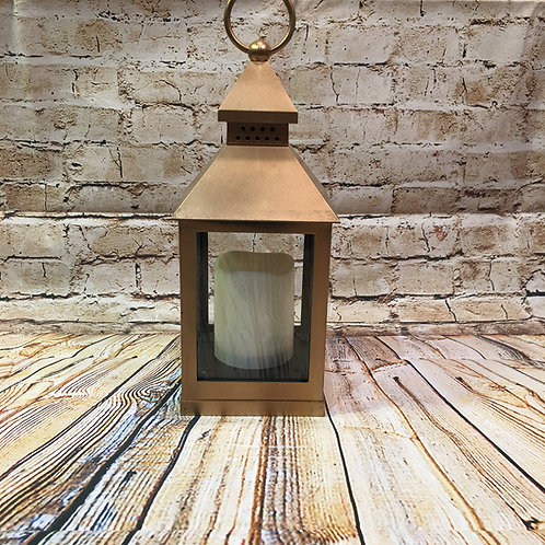 Lantern with Battery Operated Candle