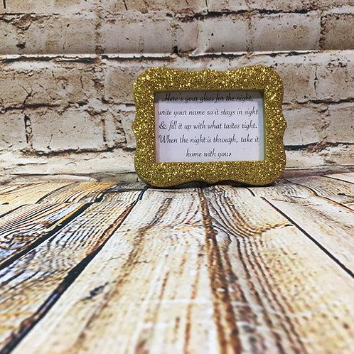 Mini Gold Sparkle Picture Frames