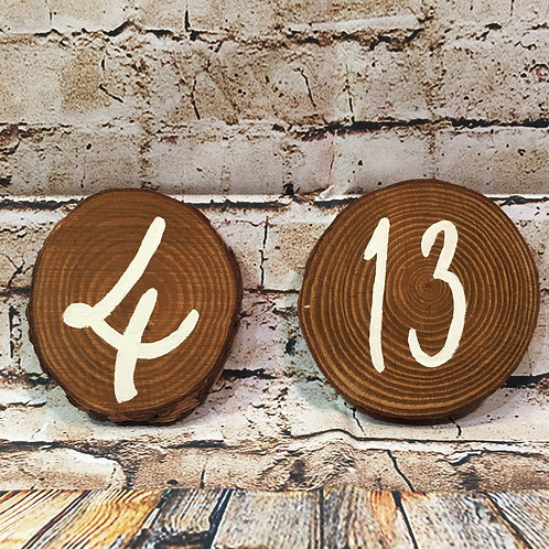 Wood Slab Table Numbers