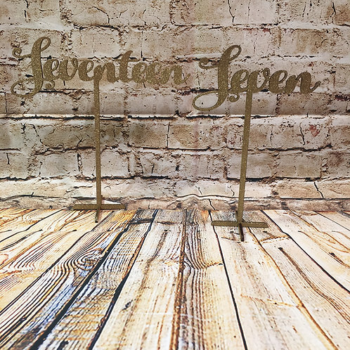 Freestanding Table Numbers