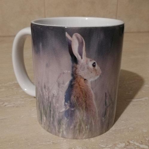 Tea/Coffee Mug - 'Rabbit in the meadow'