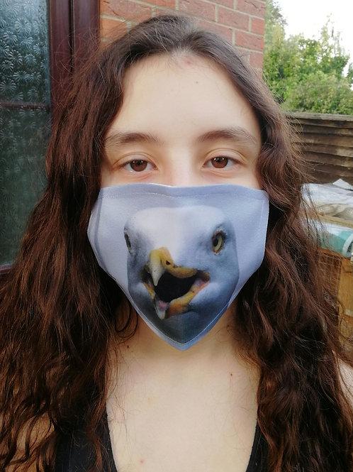 Face Mask - Herring Gull portrait