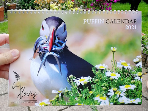2021 Double A4 Puffin calendar