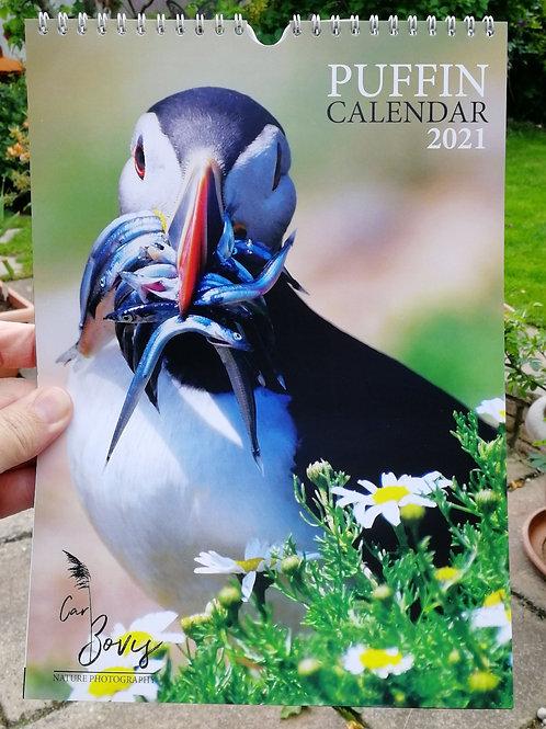 2021 A4 Puffin calendar