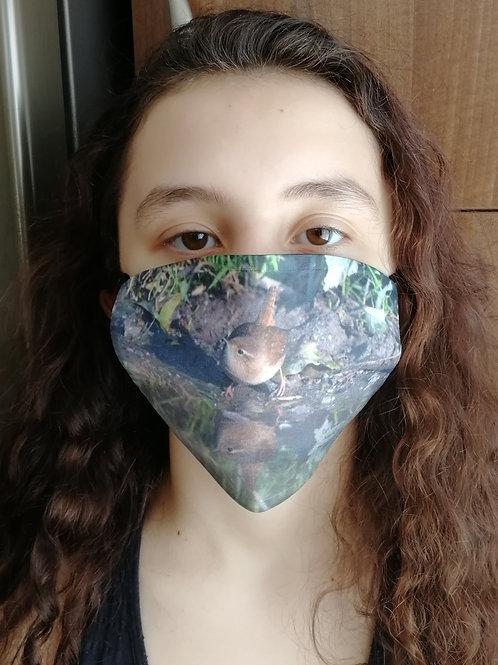 Face Mask - Wren reflection