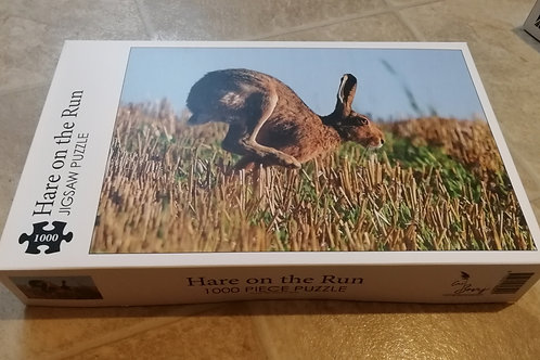 1000 piece jigsaw puzzle - 'Hare on the run'