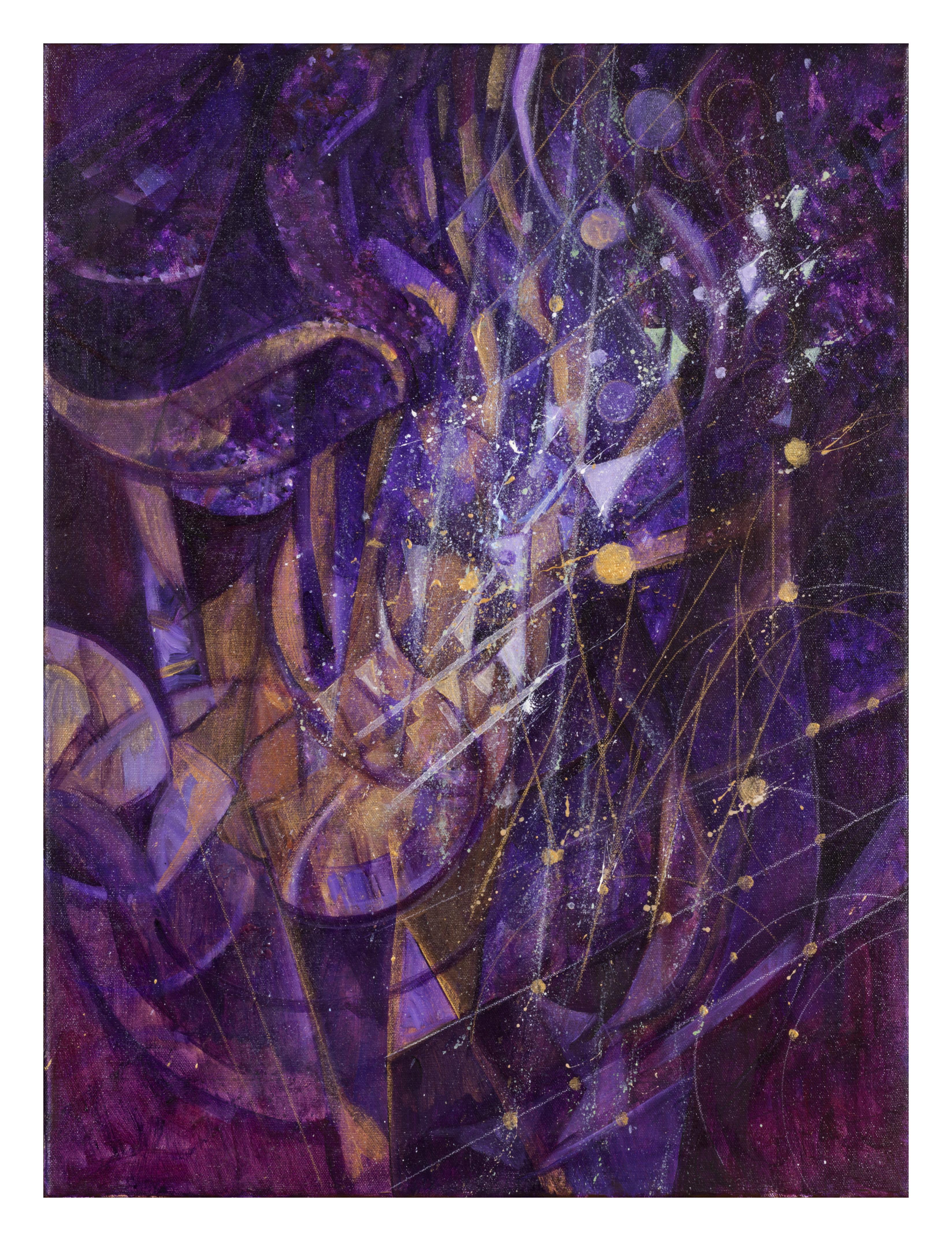 Crescendo in Purple and Gold