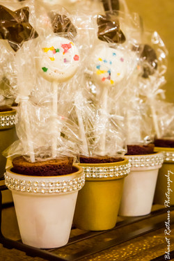Edible decorations for candy station