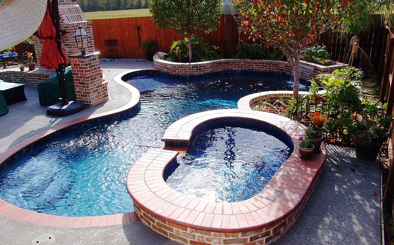 Freeform Pool with Pavers
