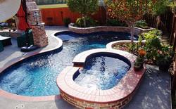 Freeform Pool with Pavers