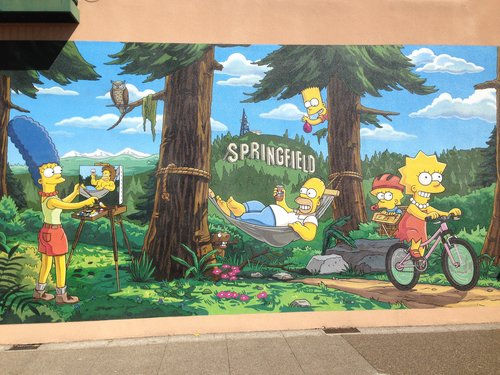 "Home of the Springfield ""Simpson's"" Mural"
