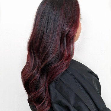 Red Balayage and Cut by Cecilia