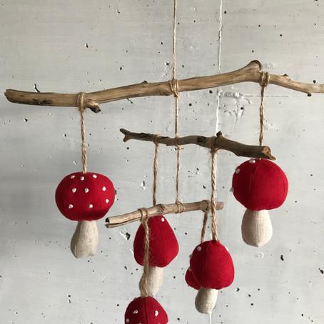 Pilzchenmobile - ein kleiner IKEA - Hack