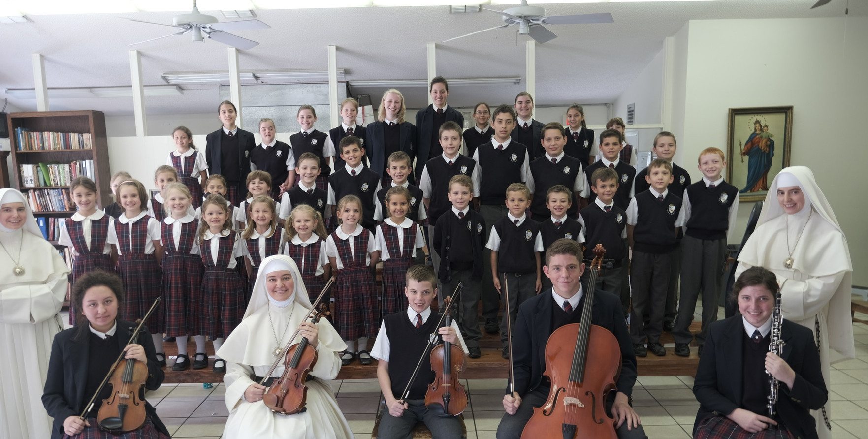 Thank you from the Sisters and students of Queen of All Saints!