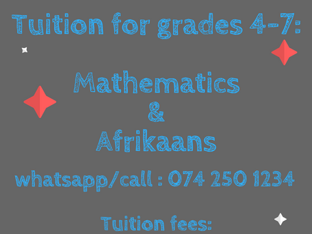 Grade 4-7 classes needed? We have them...