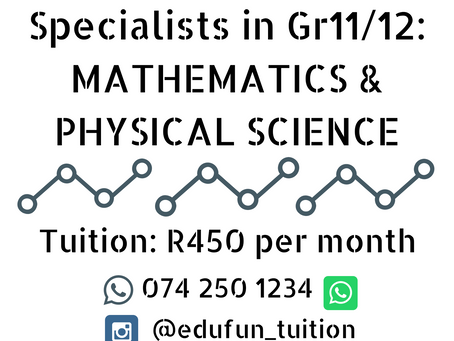 EduFun Tuition is Now in Johannesburg South