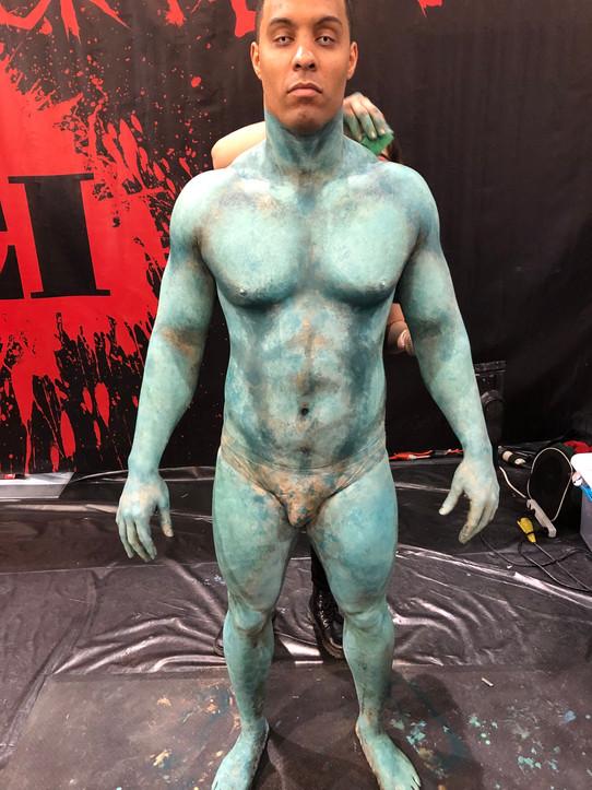 Body paint in progress