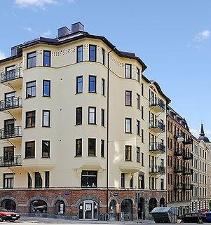 Djupedalsgatan 2 - Fastighetens fasad ha