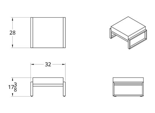 Dodeka- Premise ottoman dimensions