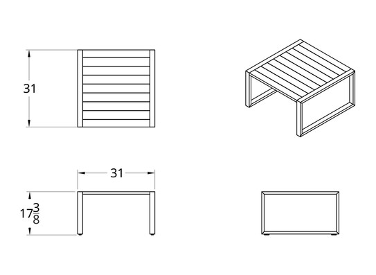 Dodeka- Premise side table dimensions
