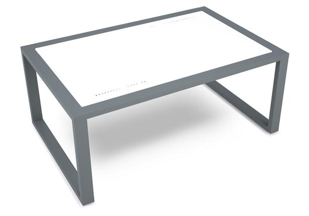 lemma coffee table- white sandtex alumin