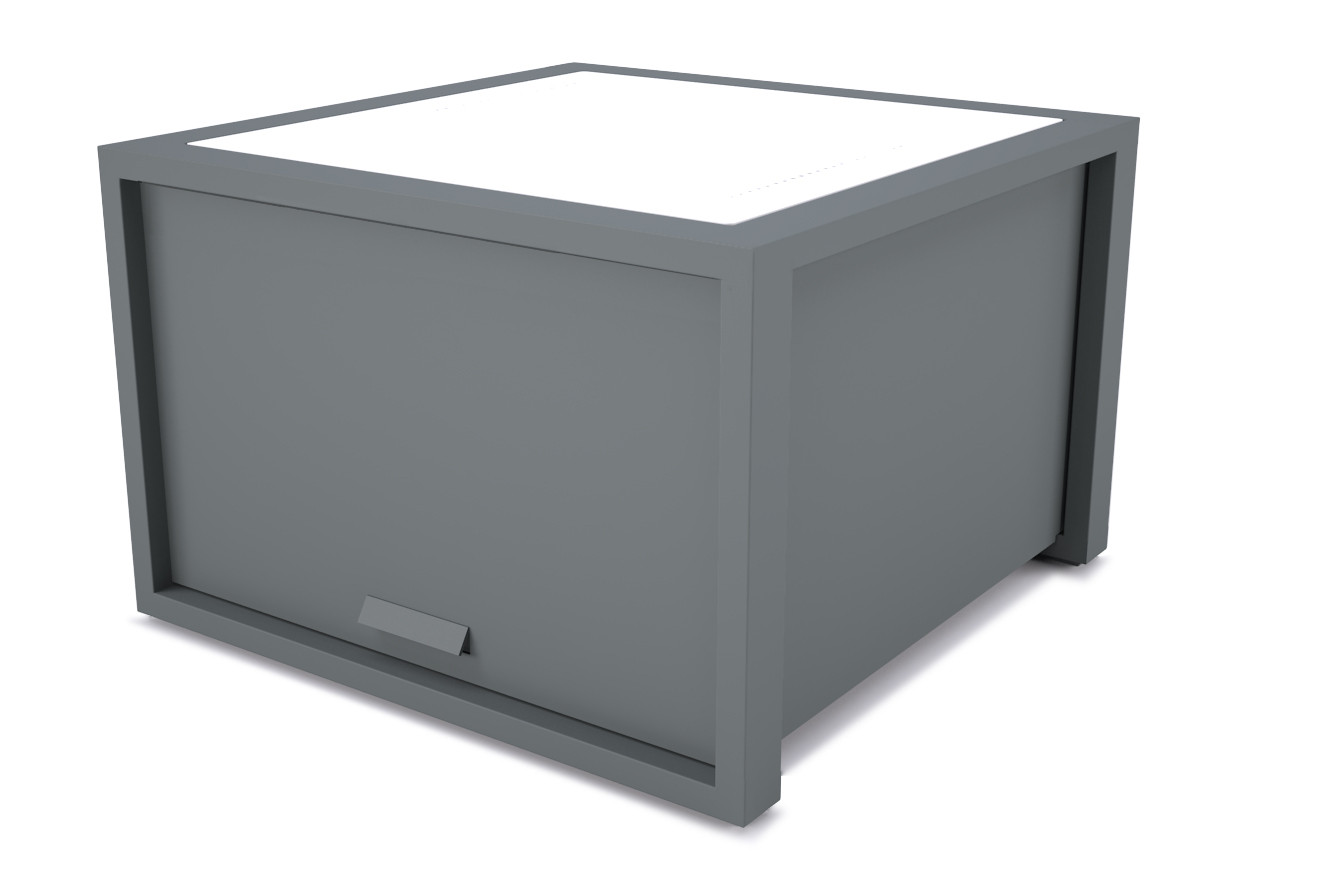 dodeka- lemma side table with box