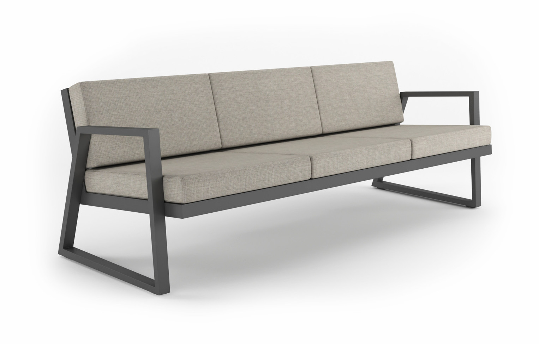 Dodeka- Fugue couch- echo ash sunbrella