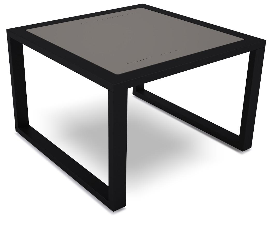 dodeka- lemma side table- quartz greay s