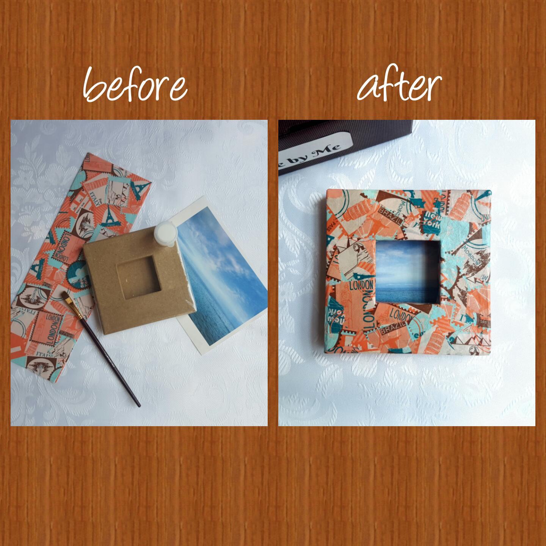 Decoupage Photo Frame