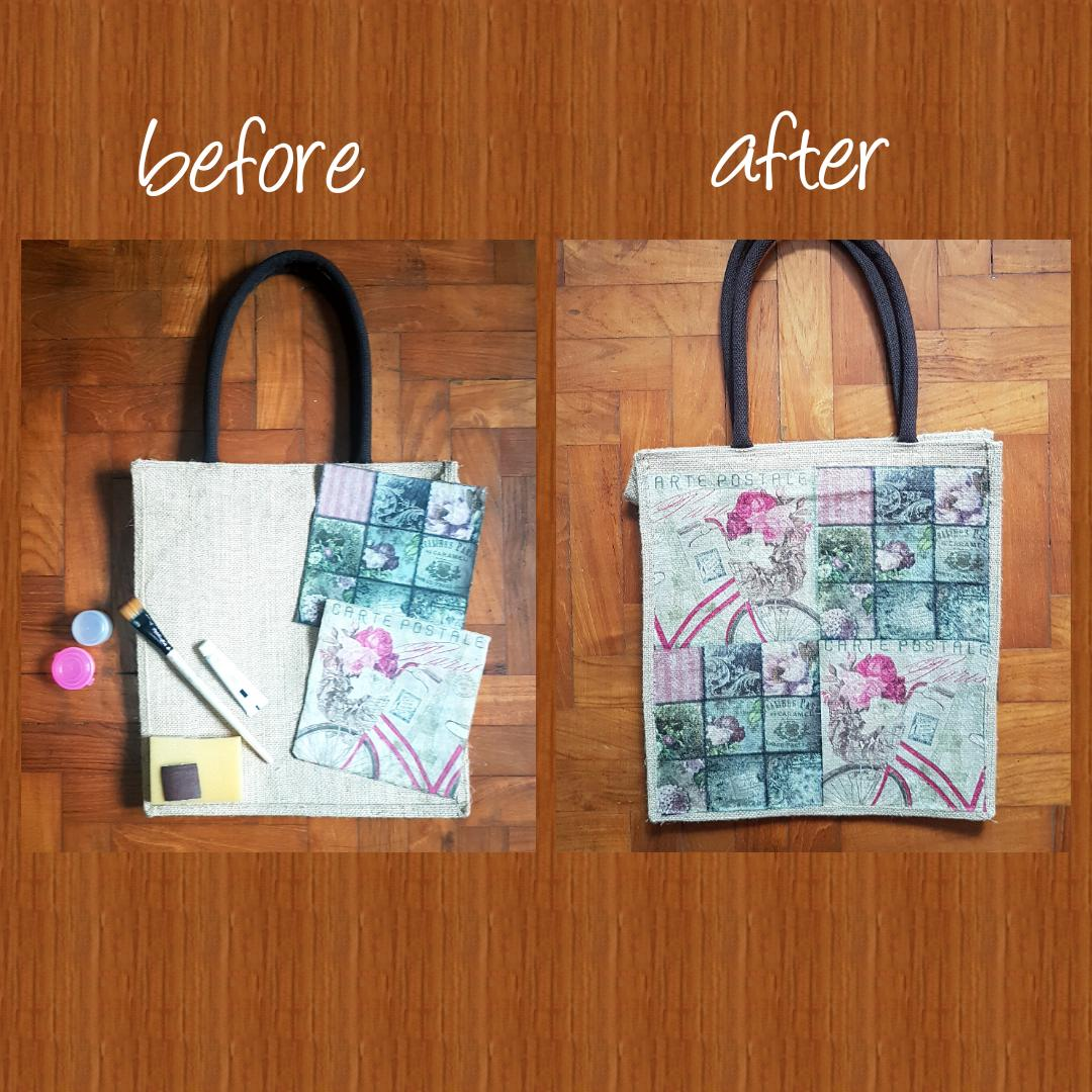 Decoupage Tote Bag