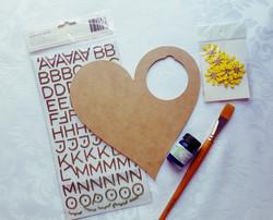 Heart Door Sign Supplies