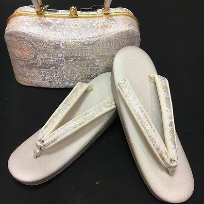 紗織ブランド 草履バッグセット Lサイズ