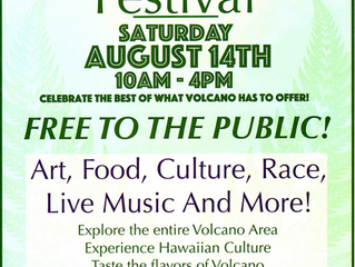 Join us for the 2nd annual Experience Volcano Festival Saturday, August 14th from 10am to 4:00pm.