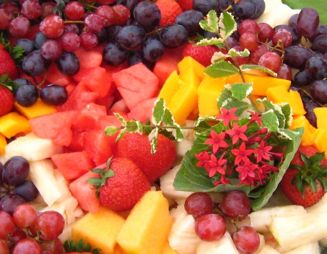 Beautifully displayed Fruits