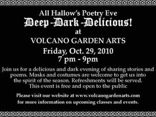All Hallows Eve at Volcano Garden Arts