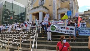Dia Mundial de Saúde é marcado por atos em defesa do SUS, vacinação e Fora Bolsonaro