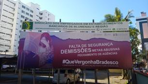 Seeb Blumenau denuncia ataques do Bradesco contra os trabalhadores em plena pandemia