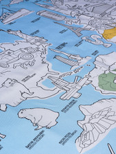 Obrus Mapa świata