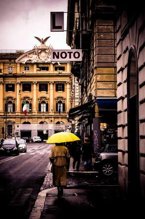 rome under yellow sky