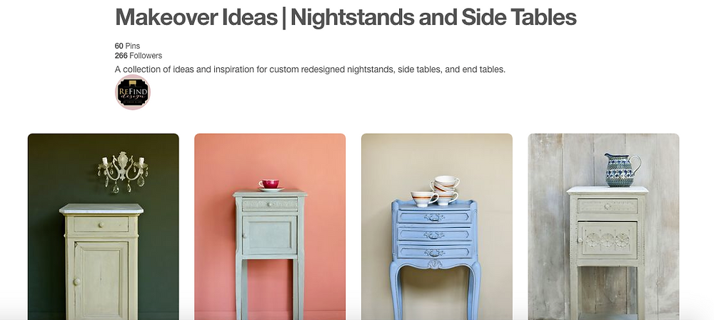 Pinterest Board Makeover Ideas | Nightstands and Side Tables