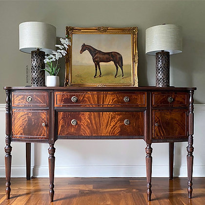 Antique Bookmatched Hepplewhite Buffet