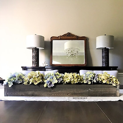 Weathered Wood Centerpiece with Hydrangeas