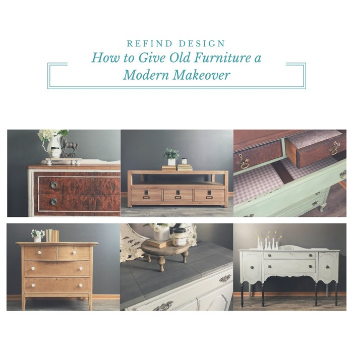 How to Give Old Furniture a Modern Makeover collage