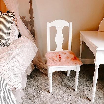 Dusty Rose Faux Fur Chair Pad/Cushion