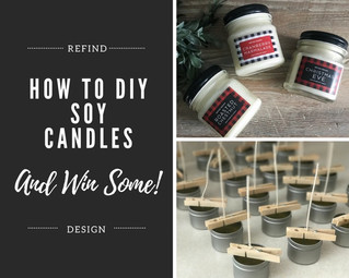 How to Make Soy Candles: Perfect Hostess Gift for the Holidays! (Free Giveaway)