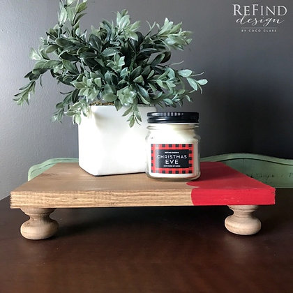 Red Scalloped Tray