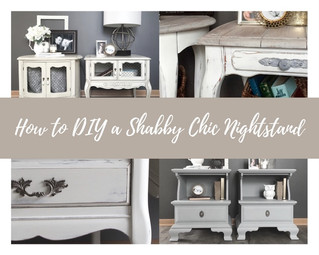 How to DIY a Shabby Chic Nightstand