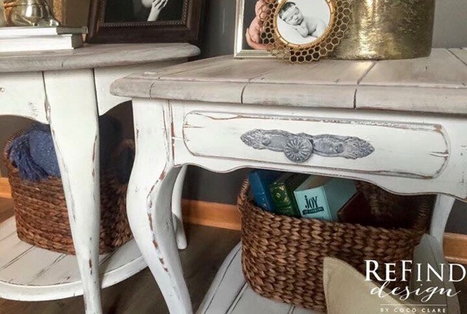 Shabby Chic Side Tables Redesigned