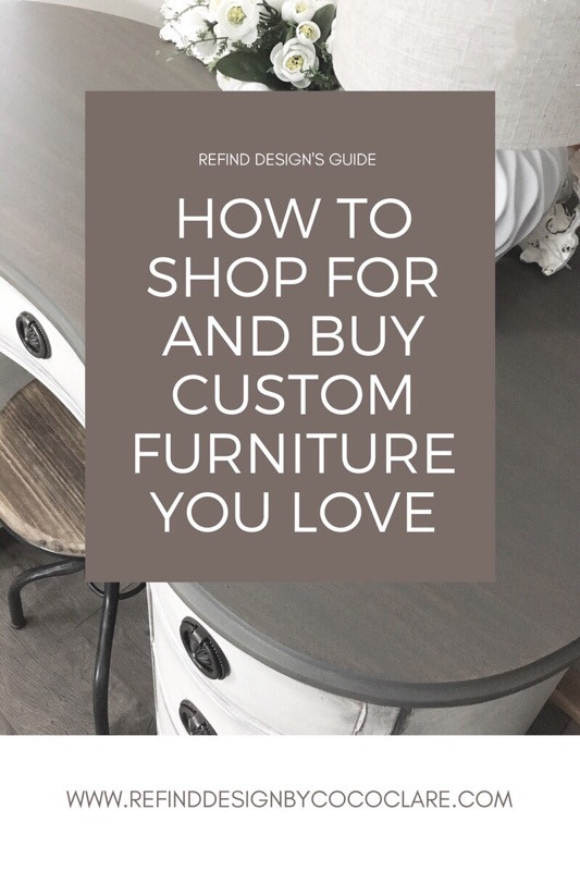 How to shop for and buy custom furniture graphic